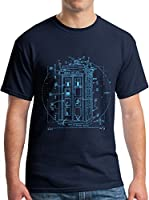 Vitruvian Tardis by Leonardo Da Vinci T-Shirt