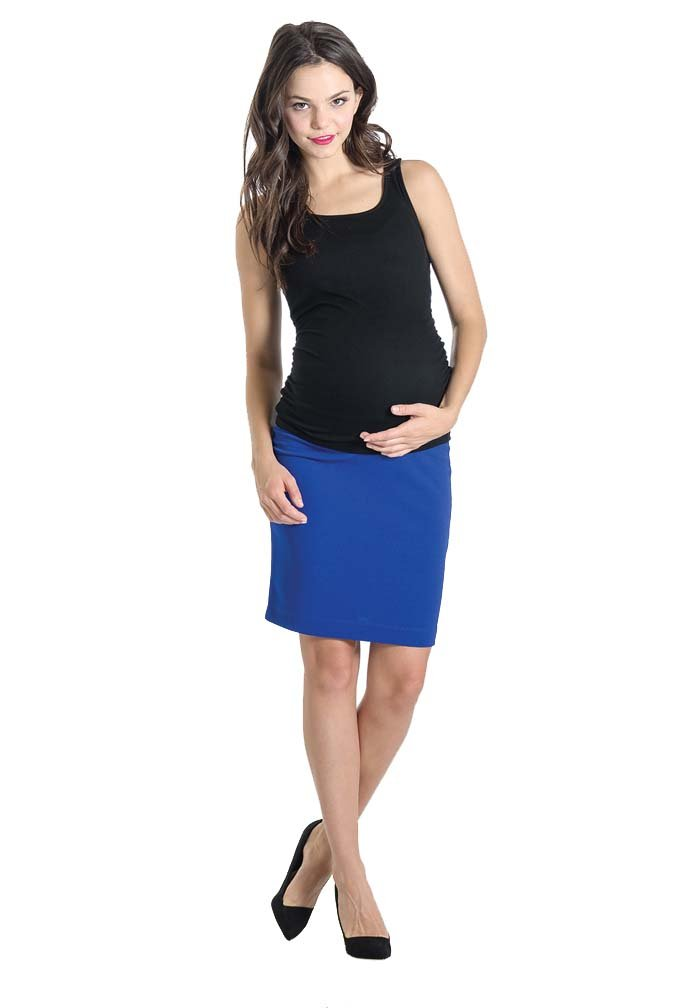 Lilac Pencil Maternity Skirt - Solid - Cobalt - Medium by Lilac (Image #4)