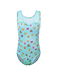 Toddlers Stars and Stripes Sparkle Spliced Athletic Gymnastics Leotard for Girls