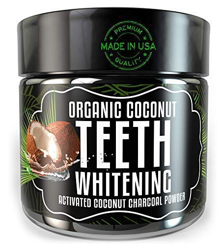 (Activated Charcoal Teeth Whitening Powder - Odissey Life - Coconut Oil - Organic Coconut Charcoal Powder - Sparkling White Teeth - Best Nano Technology Teeth Whitening - Mint Flavor)