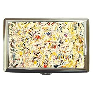 New Style Jackson Pollock Shimmering Substance Cigarette Money Case or Name Card Free Ship