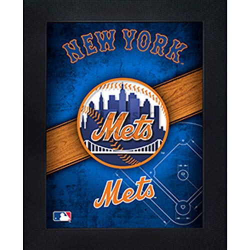 New York Mets 3D Poster Wall Art Decor Framed Print   14.5x18.5   Lenticular Posters & Pictures   Memorabilia Gifts for Guys & Girls Bedroom   MLB Baseball Sports Team Fan Poster for Man Cave
