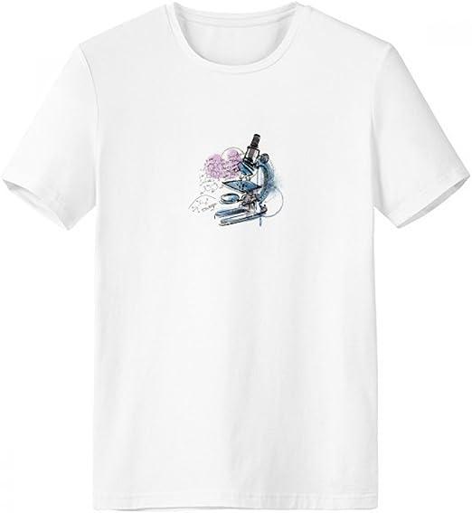 DIYthinker Química Conocimiento tiende Microscopio Escote de la Camiseta Blanca de Primavera y Verano de Tagless Comfort Deportes Camisetas de Regalos - Multi - Media: Amazon.es: Deportes y aire libre