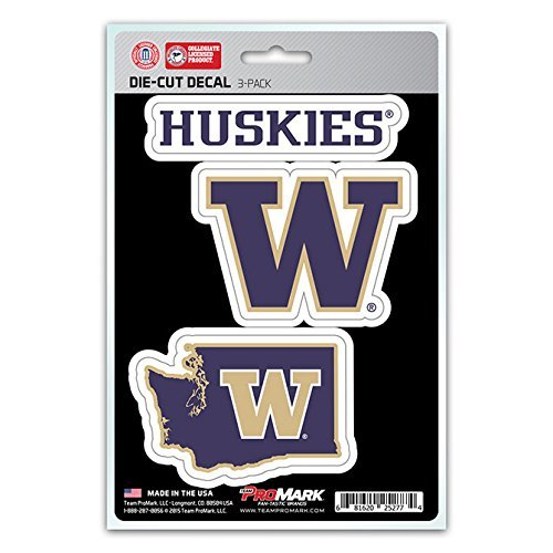 (NCAA Washington Huskies Team Decal, 3-Pack)