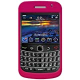 Amzer AMZ21424 Rubberized Snap on Crystal Hard Case for Blackberry Bold 9700, onyx 9700 (Hot Pink)