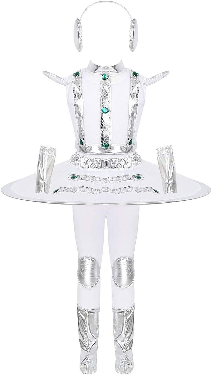 YOOJIA - Disfraz de Robot para niña, Traje de Oruga para Carnaval ...