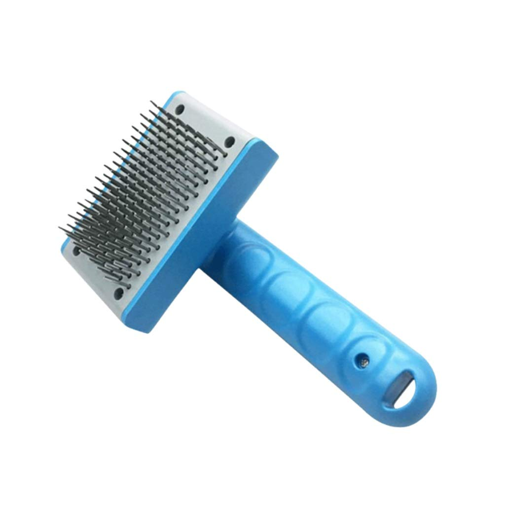 Upgrade Version Self Cleaning Slicker Brush-Slicker Pet Grooming Brush- Shedding Grooming Tools,Safe Dematting Comb for Easy Mats & Tangles Removing