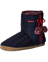 Women's Samantha Cable Knit Boot Slipper
