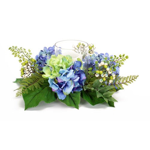 Hydrangea Berry Candle Ring - Hydrangea Ring Candle
