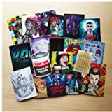 Shoresu 18 Pieces/Lot 2017 Stranger Things Stickers for Car Laptop PVC Bicycle Backpack Home Decal DIY Waterproof PVC Toy Stickers TUE 6-7 cm