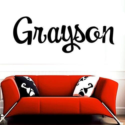 Grayson girl name boy name letters childrens room VINYL WALL ART STICKER DECAL 8310 Wall