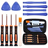 xbox 360 repair tools - Vastar T6 T8 T10 Xbox One Screwdriver Set, 13-in-1 Xbox Repair Kit for Xbox One Xbox 360 Controller and PS3 PS4 Controller with Cross Screwdriver 1.5, Safe Pry Tools, Cleaning Brush & Cloth in EVA Bag