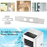 AC Replacement Window Bracket Adjustable Length Between 89cm-145cm,Portable Air Conditioner Plastic Window Kit Vent Kit for Sliding Glass Window Hose