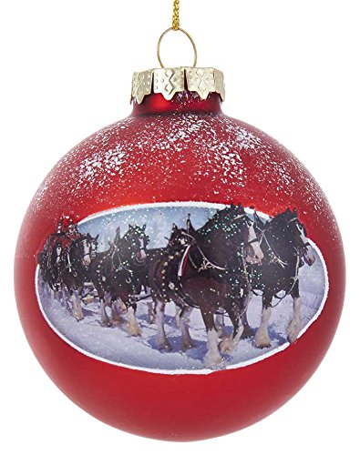 Kurt S. Adler 80MM Budweiser Clydesdale Glass Ball Ornament - Amazon.com: Kurt S. Adler 80MM Budweiser Clydesdale Glass Ball