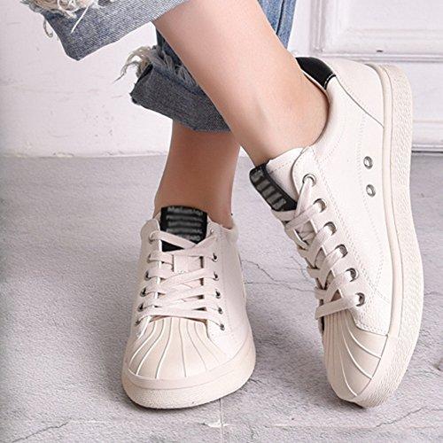 Colore Street CN37 5 01 Summer dimensioni da 5 EU37 UK4 Beat bianche Travel Scarpe Scarpe Shoes donna 01 NAN aqF4vIT