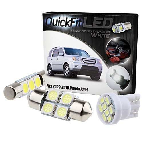 QuickFitLED White LED Interior Light Package Kit For Honda Pilot 2009-2015 (19pcs) (Honda Shine compare prices)