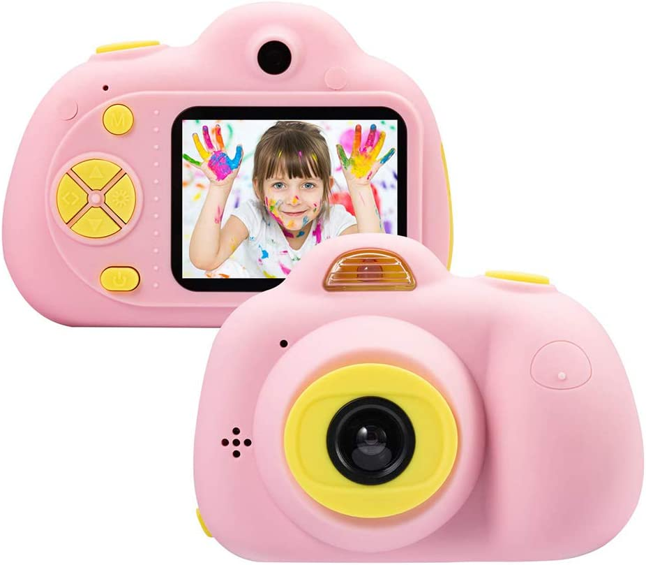 fanmaosdf Kids Camera Gifts for 4-8 Year Old Girls Shockproof Cameras Great Gift Mini Child Camcorder for Little Girl with Soft Silicone Shell for Outdoor Play
