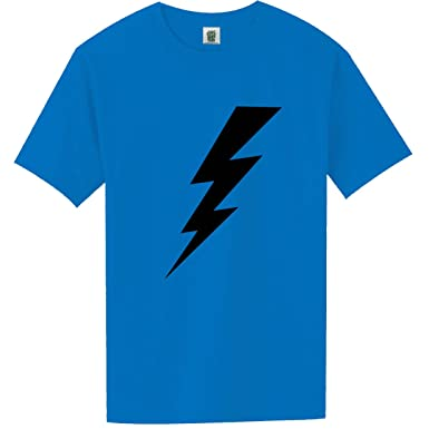 2bfd81d2 YOUTH Lightning Bolt Short Sleeve Bright Neon T-Shirt - in Blue - Small