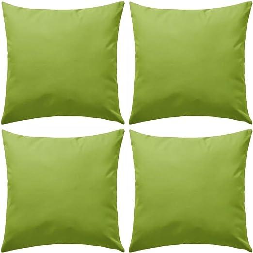 XINGLIEU 4 Cojines de Exterior de 45 x 45 cm, Color Verde