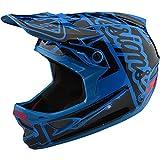 Troy Lee Designs D3 Fiberlite Factory-Mono Helmets Ocean Blue (Gloss) XL