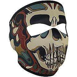 Zanheadgear Neoprene Full Face Mask, Psychedelic Skull