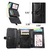 Vintage Leather Women short Wallet Coin Pocket Phone Purse Female Card Holder
