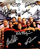 #3: Star Trek Voyager Cast Signed Autographed Movie 8 X 10 Reprint Photo - (Mint Condition)