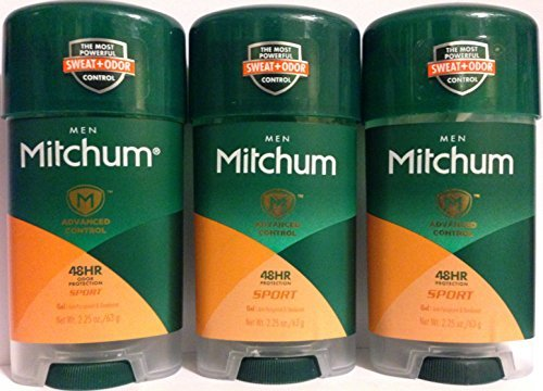 Mitchum Advanced Antiperspirant Deodorant For Men - Sport - Gel - Oxygen Odor Control Technology 48 Hour Protection - Net Wt. 2.25 OZ (63 g) Each - Pack of 3