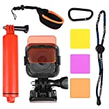 Floating Wrist Mount + diving Lens Filter Kit For GoPro Hero 4 Session Hero 5 Session Hero Session camera by HOLACA