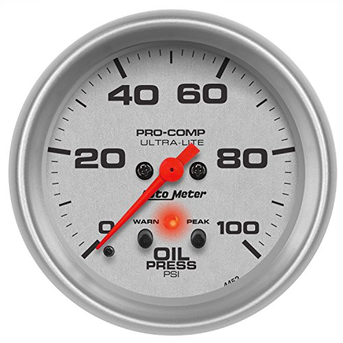 - Auto Meter 4452 Ultra-Lite Electric Oil Pressure Gauge