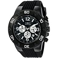 Men's 20274 Pro Diver Black Stainless Steel Watch with Polyurethane Band