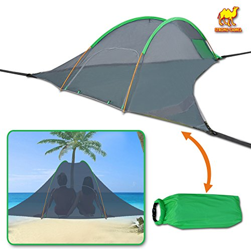 Strong Camel Portable Camping Hammock with Mosquito Net Tree Tent Hanging Outdoor Travel Tree