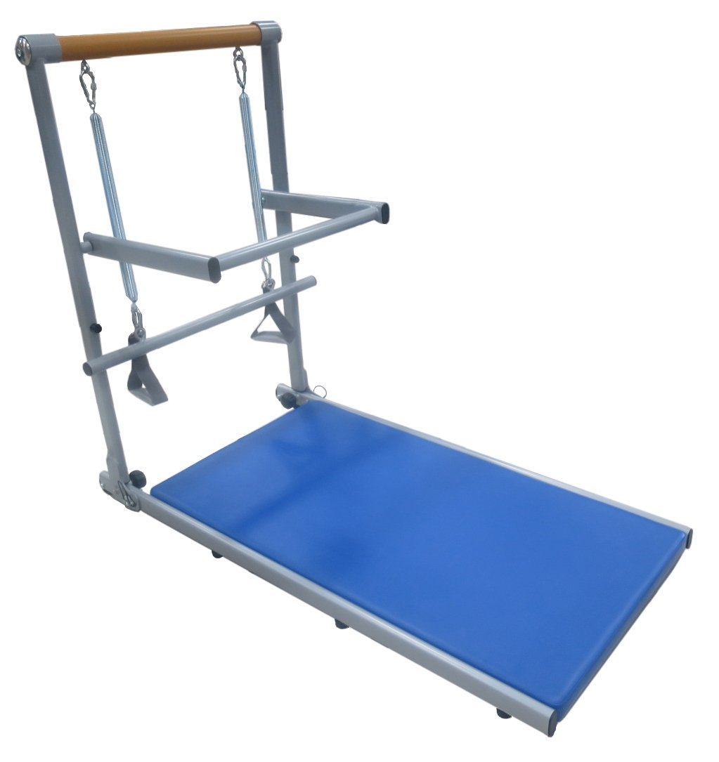 Supreme Toning Tower All in 1 Pilates and Barre Reformer for Your Home Tone Arms, Legs, and Core Fully Assembled Light-Weight Steel Frame Includes DVDs and Online Workouts