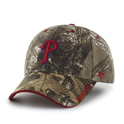 fan products of MLB Philadelphia Phillies '47 Frost MVP Camo Adjustable Hat, One Size Fits Most, Realtree Camouflage