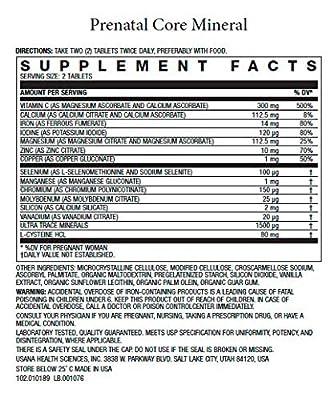 Usana Prenatal CellSentials Vita-Antioxidant and Core Minerals