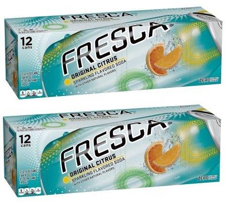 Fresca Soda, 12 Fl Oz, 12 Count (Pack of 2) from Fresca