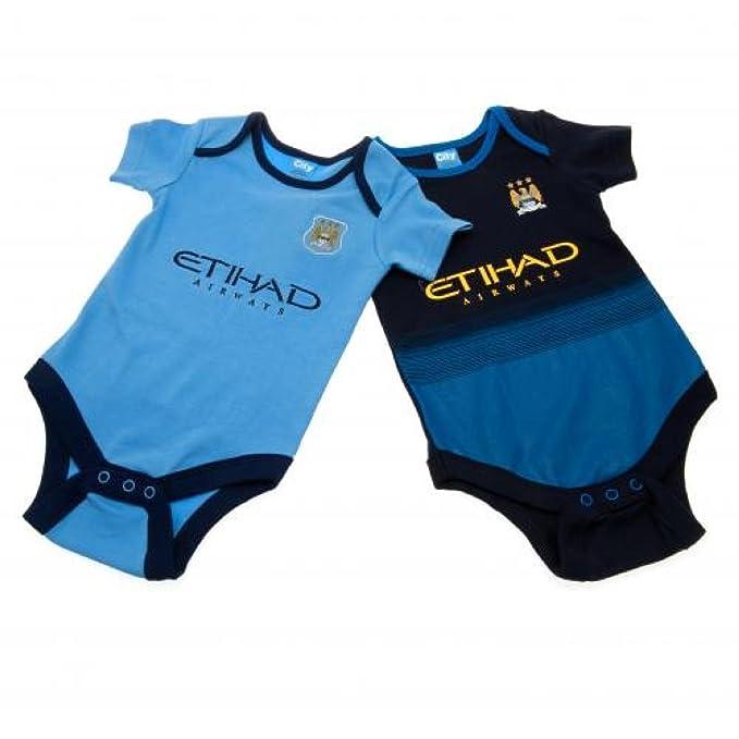 Bebé ropa - oficial Manchester City FC bebé body de (2 unidades ...