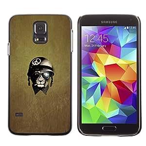 TopCaseStore / la caja del caucho duro de la cubierta de protección de la piel - War Peace Veteran Warrior - Samsung Galaxy S5 SM-G900
