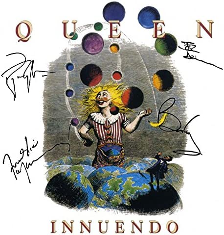 Queen Signed Autographed Innuendo Record Album Cover LP Autographed Signed Facsimile 519k03jd8UL