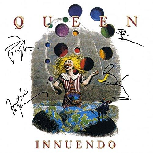 Queen Signed Autographed Innuendo Record Album Cover LP Autographed Signed Facsimile