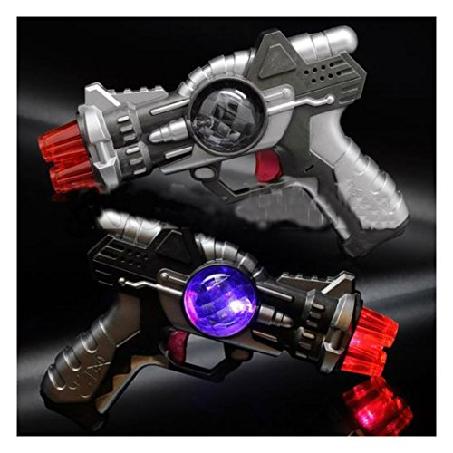 LED Space Toy Gun Light-Up Pistol Flashing Multi-Color & Sound Effects Blinking 2 ratings