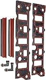 APDTY 726828 Lower Intake Manifold Gasket - Set Of Four - Plus Elbows