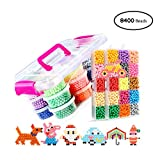 Umiwe Water Fuse Beads Kit,8400 beads 30 colors Craft DIY Water Mist Magic Bead Kits Fuse Beads Beginners
