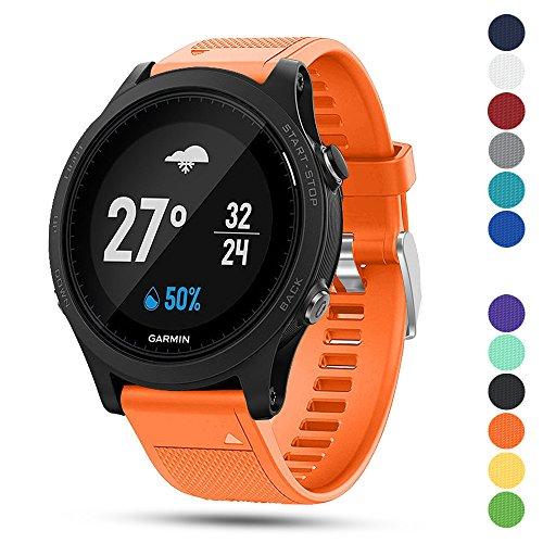 Garmin Forerunner 935 GPS Accessory Watch Band,Feskio 22mm Width Soft Silicone Quick Install Sport Watch Strap Bracelet Wristband for Garmin Forerunner 935 GPS Smart Watch