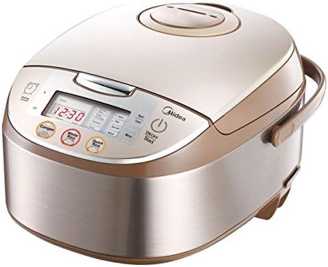 Midea Mb-fs5017 10 Cup Smart Multi-cooker Rice Cooker Maker Steamer Slow Cooker, Brushed Brown, 5Qt 875W