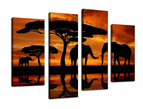 yearainn Canvas Elephant Painting African product image