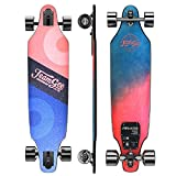 Teamgee H9 37' Ultra-Thin & Lightweight Electric Skateboard, 26 MPH Top Speed, 960W Dual Motor, 12 Miles Range, 14.8 Lbs, Max Load 220 Lbs, 10 Layers Maple Longboard with Wireless Remote Control