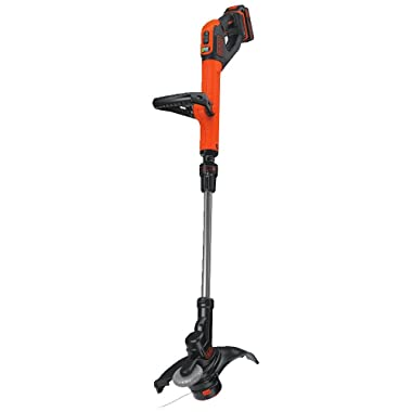BLACK+DECKER LST522 20V MAX Lithium 2-Speed String Trimmer/Edger, 12