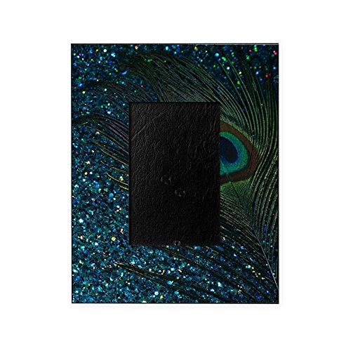 CafePress - Glittery Aqua Peacock - Decorative 8x10 Picture Frame by CafePress