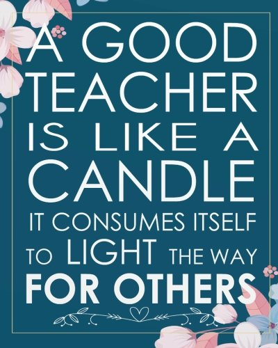 (A good teacher is like a candle it consumes itself to light the way for others: Teacher gift appreciation Dot Grid Journal for 132 Pages of 8